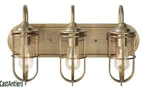 industrial bathroom lighting. industrial cage 3 light vanity available in 2 colors bronze bathroom lighting i