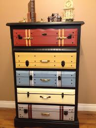 Suitcase With Drawers This Is A Dresser Painted To Look Like Suitcases For The Home