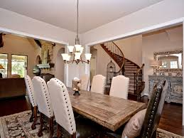 cottage dining room tables. Cottage Dining Room With Salvaged Wood Trestle Rectangular Extension Table, High Ceiling, Hardwood Tables