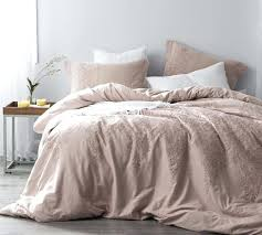 oversized king duvet cover baroque stitch ice pink fawn embroidery 110 x 98