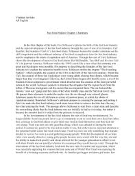 final in class essay fast food nation fast food nation chapter 1 summary