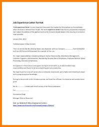 Another Word For Work Experience 6 Experience Letter Format In Word Pennart Appreciation Society