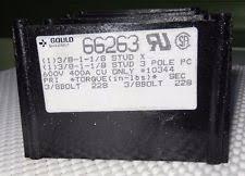 400 amp fuse gould 400 amp 3 pole fuse block 66263 used