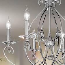chrome coloured chandelier carat 6 bulb 5506163 01