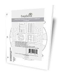 Easygenie Large Print Genealogy Charts And Forms Kit 30 Sheets Includes 10 Pedigree Charts 10 Fan Charts And 10 Family Group Sheets