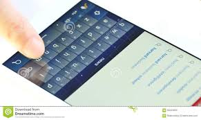 4k Smartphone Typing Texting Finger Operating Touch Typing Email On