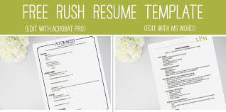 Sorority Resume Template - Freeresumetemplate intended for Sample Sorority  Rush Resume