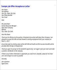 Formal Job Offer Template Sample Formal Job Offer Letter 6 Examples In Word Pdf