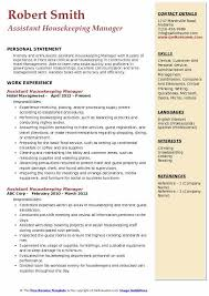 Assistant Housekeeping Manager Resume Samples Qwikresume
