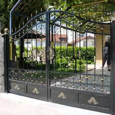 Modern Iron Fence Designs Hebei Factory House Modern Iron Main Gate Designs Buy Iron Gate Metal Gates Driveway Gate Product On Alibaba Com
