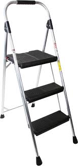 werner 3 step 225 lbs capacity silver aluminum foldable step stool