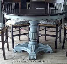 how to paint a kitchen table with chalk paint unique painting dining room table familyservicesuk