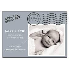 Baby Announcement Cards Special Delivery New Baby Announcement Card