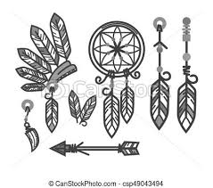 Dream Catcher Symbolism Awesome Native American Indians Traditional Culture Tools Symbols Vector