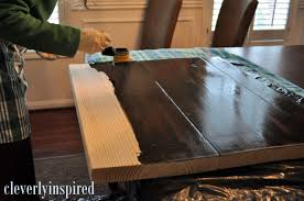 3 coats of stain sanding gently in between each coat then poly 3 coats just like the coffee bar