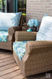 how to make outdoor chair cushion covers the easy way