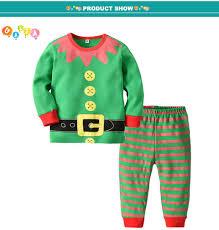 Designer Christmas Pajamas 2019 2018 New Designer Xmas Sleepwear Sets Kids Boys Girls Christmas Pajamas Suits Children Nightwear Tops Stripe Pants Outfits Homewear From