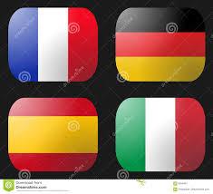 Bandierina Della Francia Germania Italia Spagna Illustrazione di Stock -  Illustrazione di tasto, tedesco: 6046491