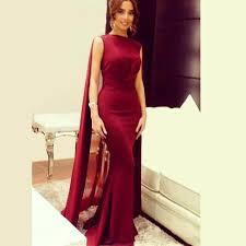 <b>2019 Elegant Arabic Dark</b> Red Mermaid Evening Dresses High ...