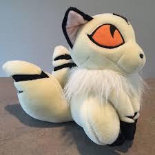 inuyasha  kirara cat like anime plush yellow gold eyes stuffed