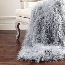grey throw rug medium size of blanket fluffy fox fur awesome faux charcoal big w
