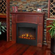 real flame bradford 46 inch slimline electric fireplace shown installed in room