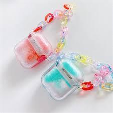 Vỏ cầu vồng kim tuyến nước có dây đeo tay cho hộp tai nghe iPhone AirPods  Pro AirPods 1/2 giá cạnh tranh