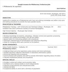 Phlebotomist Resume Examples Simple Cover Letter For Delivery Driver No Experience Unique Phlebotomy