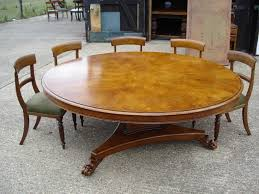 large round dining table 6ft diameter regency revival burr oak dining table to seat 10 to 12 people
