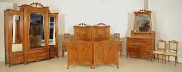 Seltenes 8 Teiliges Jugendstil Schlafzimmer Aus Mahagoni Antik