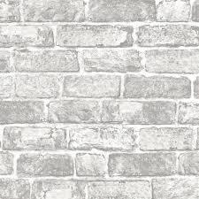 fresco white brick wall wallpaper at homebase co uk white brick wallpaper