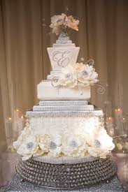 wedding cake displays sparkling crystal cake stands inside weddings silver cake stand wired crystal beads