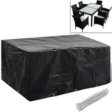black furniture covers. Tarpaulin For Mobile Polirattan With 10 Eyelets 240 X 140 Cm Black Furniture Covers
