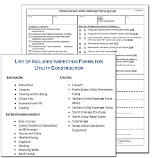 contractor forms templates utility construction contractor inspection form sample