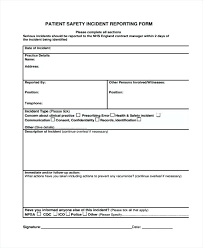Child Care Incident Report Example Safety Incident Report Template