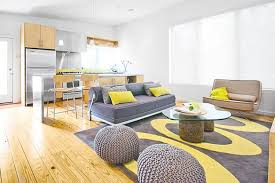 Living Rooms : Unique Yellow Living Room With Grey And Yellow ...