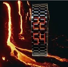 sharp watches prices. men led watch sharp lava style iron samurai metal blue red light 38pcs lot dhl free shipping sharp watches prices c
