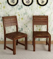 Image Patio Furniture Pepperfry Segur Solid Wood Dining Chair set Of 2 In Provincial Teak Finish By Woodsworth