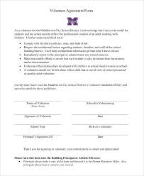 Example Of An Agreement Agreement Form Sample