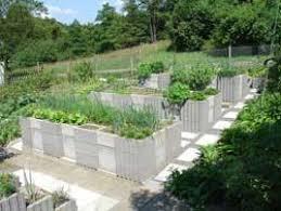 garden designs concrete block raised bed design the