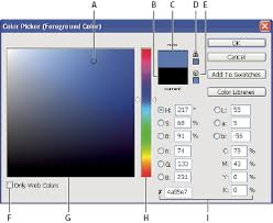 Photoshop Color Chart Choose Colors In Adobe Photoshop