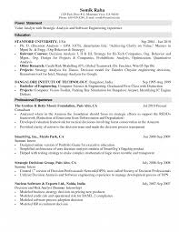 Science Resumejective Examples Computer Sle For Internship Chemical