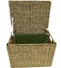 File holder box Hanging Wicker File Storage Box Image Organizeit Wicker File Storage Box In File Storage Boxes