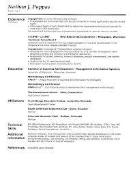 Resume Header Format - Twnctry