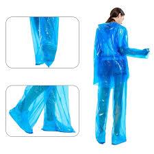 5PCS <b>Transparent</b> Raincoat <b>Women</b> Men <b>Portable</b> Outdoor Travel ...