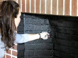 cleaning fireplace brick elegant painted brick fireplace makeover how tos