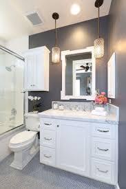 Decorating For Bathrooms Bathroom Dark Brown Wood Mirror White Waterfall Shower White