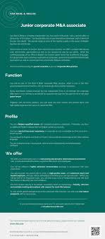 Law Job Online Junior Corporate M A Associate Van Bael