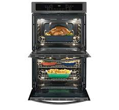 lg wall oven. frigidaire gallery double wall oven: fget3065pd, door open, loaded. lg oven