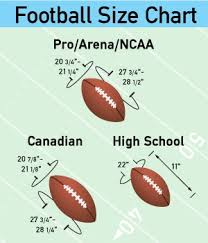 College Football Size Chart Pictures Modern Hybrid Sports